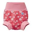 Nové Plavky Happy Nappy - růžové květy - Vel. S (0-3 měs.)