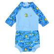 Plavky Happy Nappy kostýmek 3/4 rukáv Krokodýli - Vel. S (0-4 měs.)