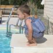 Dětský plováček Short John - modrobílá