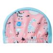 Koupací a plavecká čepice - Zvířátka růžová,0-18 měs
