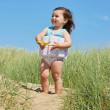 Dětský plováček se zipem - plavky - kytičky