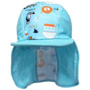 Čepice pirát s UV filtrem 50+ Zvířátka modrá