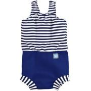 Plavky Happy Nappy kostýmek - Modrobílé