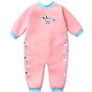 UV dětský neopren - overal - Zvířátka růžová