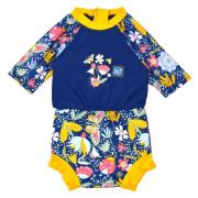 Plavky Happy Nappy kostýmek 3/4 rukáv Sunsuit Garden Delight