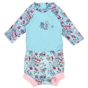 Plavky Happy Nappy kostýmek 3/4 rukáv Moře