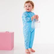 UV dětský neopren - overal - Modré květy