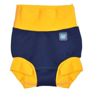 Plavky Happy Nappy DUO - Navy/Yellow