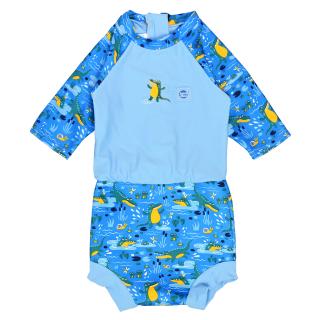 Plavky Happy Nappy kostýmek 3/4 rukáv Krokodýli