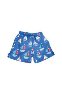 Dětské plavky šortky - vzor Lodička