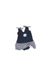 Jednodílné plavky Modrobílá se sukýnkou Vel. 1-2 roky