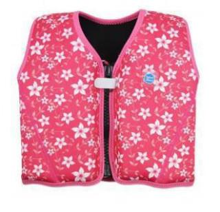 Dětská plovací vesta Růžová s květy