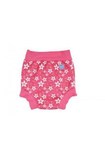 Plavky Happy Nappy - růžové květy