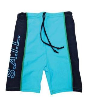 Plážové UV šortky pro děti Tyrkysové